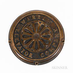 Bronze Elevator Machine Plate
