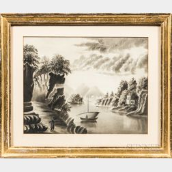 American School, 19th Century      Hudson River Landscape