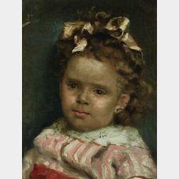 Julius LeBlanc Stewart (American, 1855-1919)  Little Girl