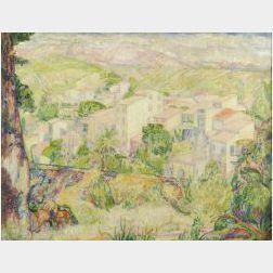 Jerome Blum (American, 1884-1956)  Panoramic Landscape: Cuba, c. 1919