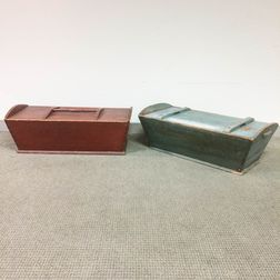 Two Country Pine Dough Boxes