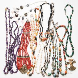 Group of Beaded Costume Jewelry
