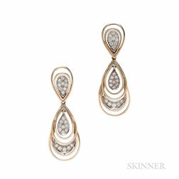 14kt Gold and Diamond Day/Night Earrings