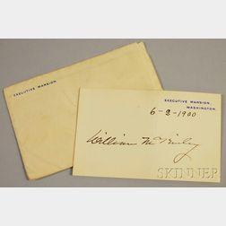 McKinley, William (1843-1901) Signature.
