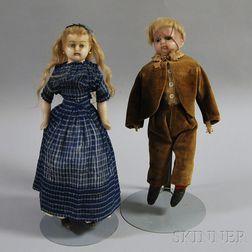 Two Wax Dolls