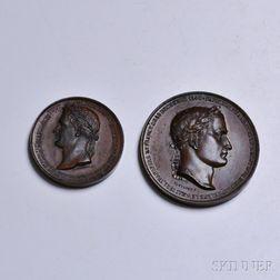 Two Napoleonic Bronze Medal Restrikes