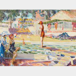 William Henry Clapp (American, 1879-1954)      Neptune Beach, #6