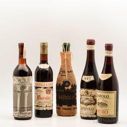 Mixed Vintage Barolo, 5 bottles