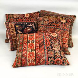Five Kurdish Rug Pillows