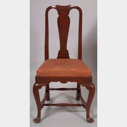 Queen Anne Red Stained Maple Side Chair