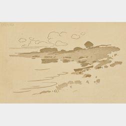 Arthur Wesley Dow (American, 1857-1922)      Shore of the Creek
