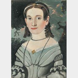 William Matthew Prior (Massachusetts/Maine, 1806-1873)      Portrait of Mary Jane Folsom (Hunter)