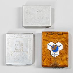 Three Russian Military Cigarette Cases
