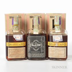 Brookhill Old Style Sour Mash 15 Years Old 1917, 3 pint bottles (oc)