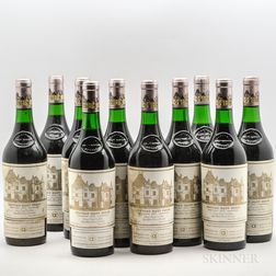 Chateau Haut Brion 1975, 10 bottles