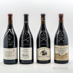 Mixed Chateauneuf du Pape Magnums, 4 magnums