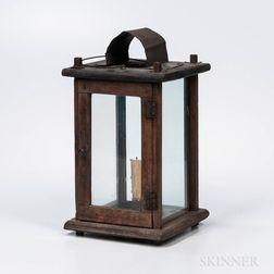 Walnut and Tin Barn Lantern
