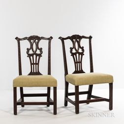 Set of Six Chippendale Carved Mahogany Side Chairs