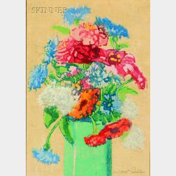 Margaret Jordan Patterson (American, 1867-1950)      Grandmother's Flowers.