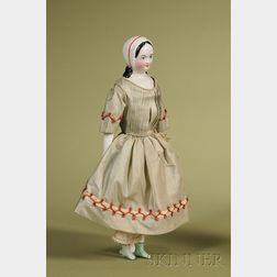China Lady with Molded Bonnet
