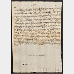 (Papal Document), Leo X (Medici, Giovanni de, 1475-1521)