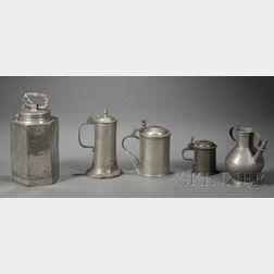 Five Pewter Vessels