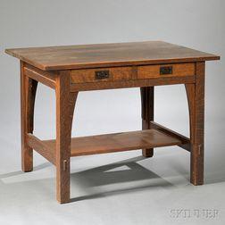 Gustav Stickley Arts & Crafts Library Table