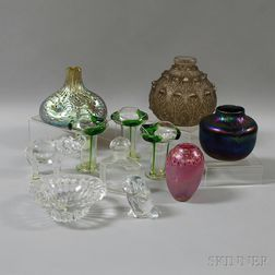 Eleven Pieces of Mostly Art Glass