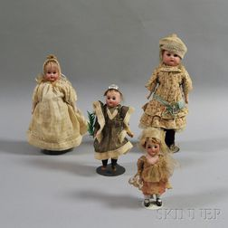 Four Small Dolls