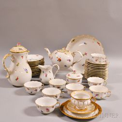 Approximately Forty-four Pieces of Meissen Porcelain Tableware.     Estimate $700-900