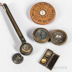 Four Japanese Compass Instruments