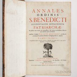 Mabillon, Jean (1632-1707) Annales Ordinis S. Benedicti.