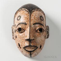 Painted Wood Ogoni Mask