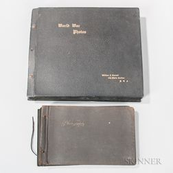 Two WWI Aerial Photography Section Picture Albums