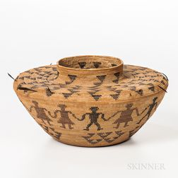 Yokuts Polychrome Pictorial Basket