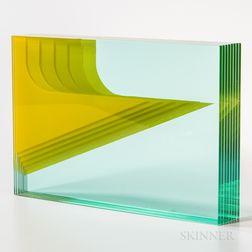 Vladimir Kopecky Arrow   Art Glass Sculpture