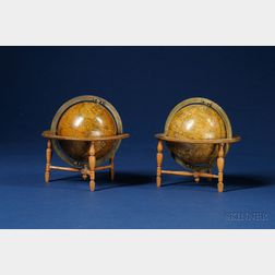 Pair of 3-inch Table Globes by Newton
