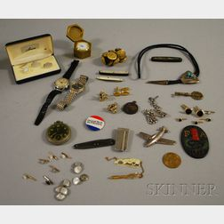 Group of Gentleman's Jewelry Items and Accessories