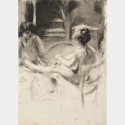 Jacques Villon (French, 1875-1963)      Lot of Two States of La pédicure