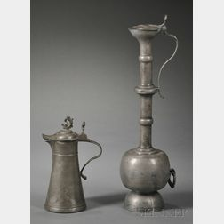 Two Pewter Flagons