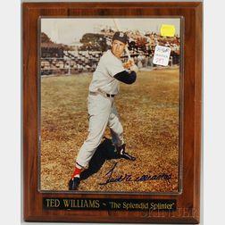 Ted Williams The Splendid Splinter   Autographed Photograph