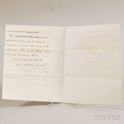 Blaine, James G. (1830-1893) Secretarial Letter Signed, July 2, 1890.