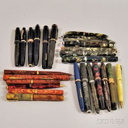 Twenty-six Vintage Fountain Pens and Mechanical Pencils