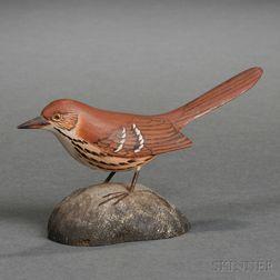 Jess Blackstone Miniature Carved and Painted Thrasher Figure