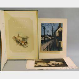 European School, 19th/20th Century      Mixed Lot of Prints Including:    Bernard Buffet (French, 1928-1999), La route de village