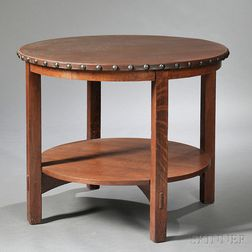 Circular Lunch Table Attributed to Gustav Stickley