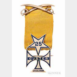 Tiffany 25th New York Cavalry Custer Medal