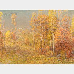 John Joseph Enneking (American, 1841-1916)      Autumn Landscape