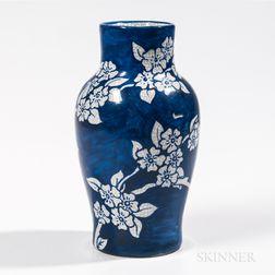 Dedham Pottery Apple Blossom Vase