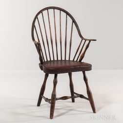 Black-painted Continuous-arm Windsor Chair